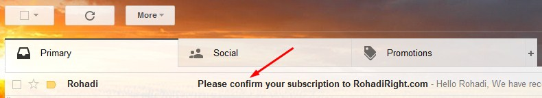 confirm subscription email