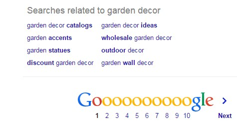 keyword research with google related search