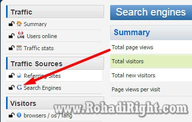 histat search engines yang terbuka (unlocked)