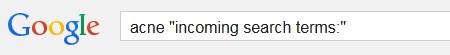 google keyword incoming search terms
