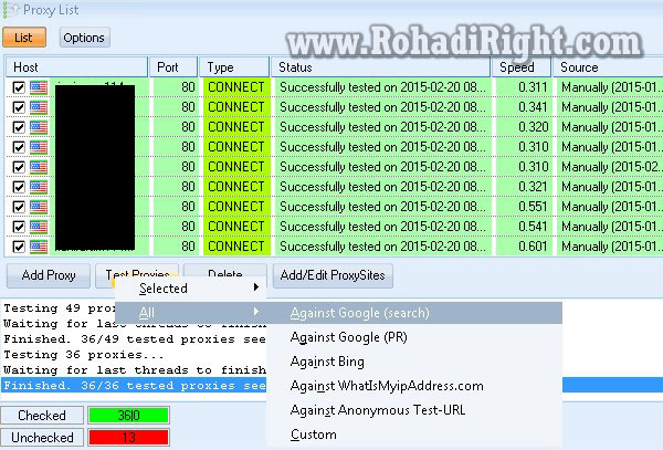 Configure Proxies