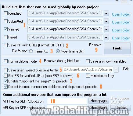site lists GSA