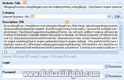 websit tile, category, description GSA