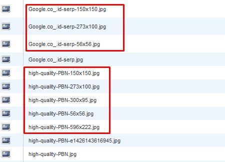 contoh gambar uploads dengan ukuran berbeda-beda