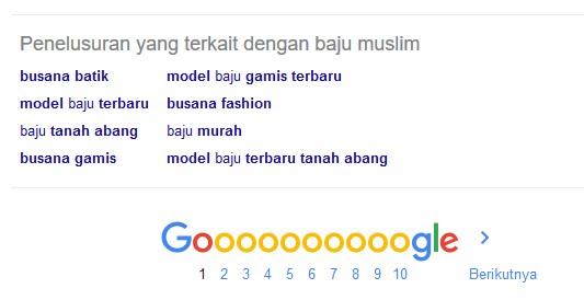 LSI keyword di google related search