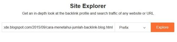ahrefs site explorer