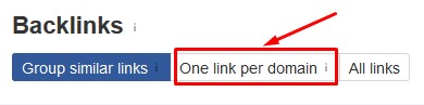one link per domain