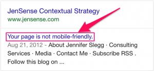 contoh halaman yang tidak mobile friendly