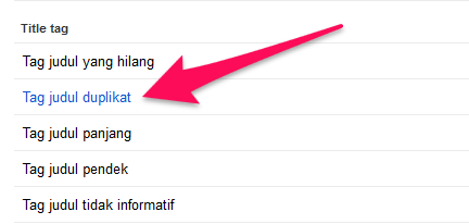 tag judul duplikat di google search console